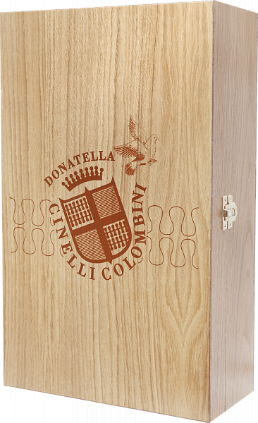 Gift box Cinelli Colombini for 2 bottles, oak