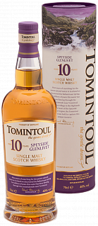 Tomintoul Speyside Glenlivet Single Malt Scotch Whisky 10 YO (gift box)<label>, 0.7л</label>