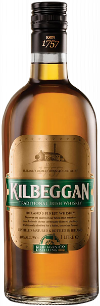 Kilbeggan Blended Irish Whiskey, 0.7л