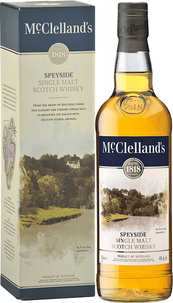 McClelland's Speyside single malt scotch whisky (gift box), 0.7л