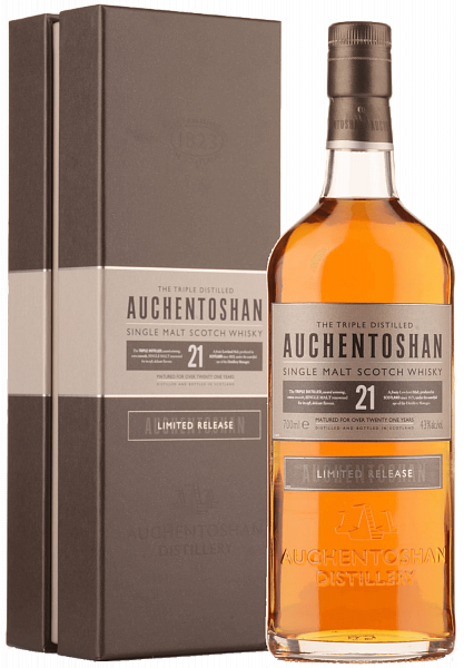 Auchentoshan 21 y.o. Single Malt Scotch Whisky (gift box), 0.7л