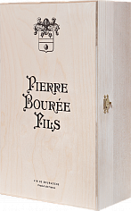 Подарочная упаковка Gift box Pierre Bouree Fils for 2 bottles, birch