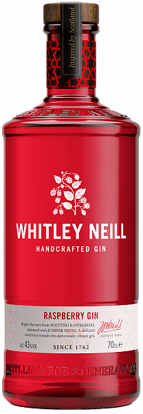 Whitley Neill Raspberry Handcrafted Dry Gin, 0.7л