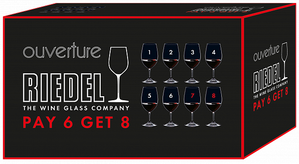 "Riedel Ouverture Magnum ""Pay 6 Get 8"" (8 glasses set)"