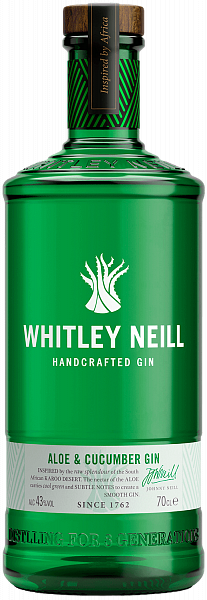 Whitley Neill Aloe & Cucumber Handcrafted Dry Gin , 0.7л