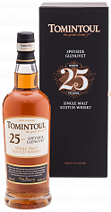 Tomintoul Speyside Glenlivet Single Malt Scotch Whisky 25 YO (gift box)<label>, 0.7л</label>