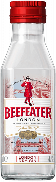 Beefeater London Dry Gin, 0.05л