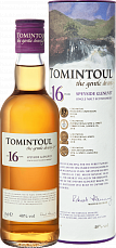 Tomintoul Speyside Glenlivet Single Malt Scotch Whisky 16 YO (gift box)<label>, 0.35л</label>