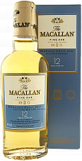Подарочный алкоголь The Macallan Fine Oak 12 y.o. Highland single malt scotch whisky (gift box)<label>, 0.05л</label>