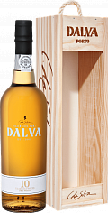 Портвейн Dalva Porto white dry 10 years old (gift box)<label>, 0.75л</label>